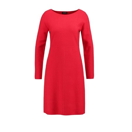 8aec76f2990b Taifun Fine Knitted Dress Poppy