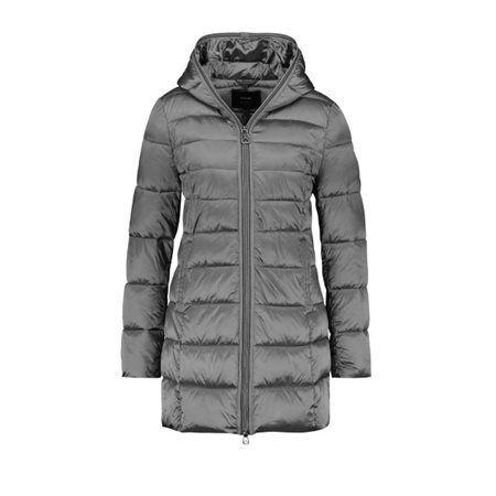 Taifun Quilted Coat With Hood Grey  - Click to view a larger image