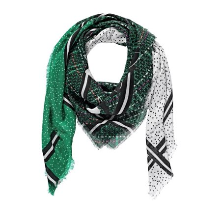 Gerry Weber Patchwork Patterned Scarf Green  - Click to view a larger image