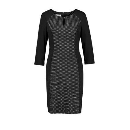 Gerry Weber Polka Dot Panelled Dress Black  - Click to view a larger image