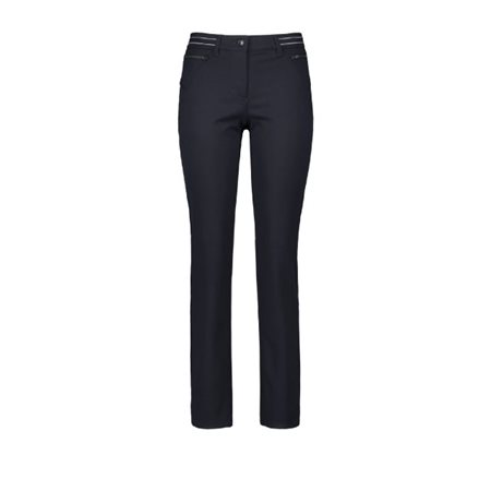 Gerry Weber Romy Trousers With Zip Pockets Navy  - Click to view a larger image