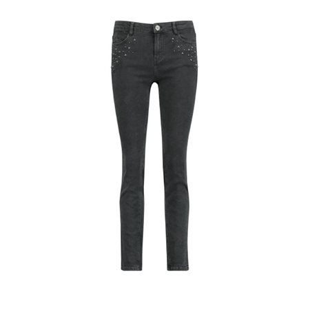 Taifun Jeans With Stud Detail Black  - Click to view a larger image
