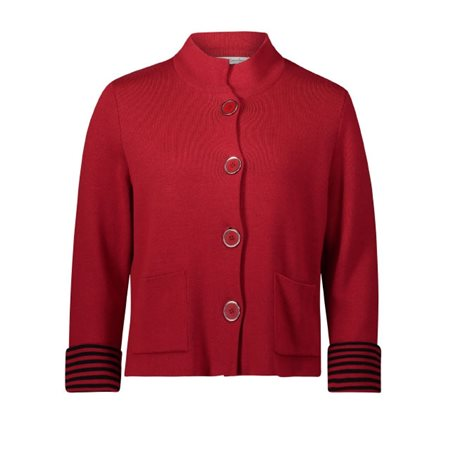 Betty Barclay Large Buttoned Cardigan Red  - Click to view a larger image