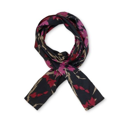 Masai Bc7865 Floral Print Scarf Pink  - Click to view a larger image