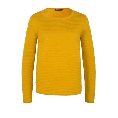 Olsen Ribbed Knitted Jumper Honey  - Click to view a larger image