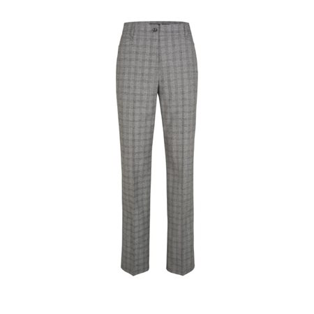 Olsen Checked Trousers Grey  - Click to view a larger image