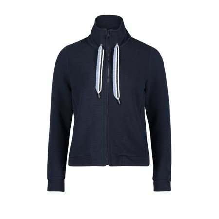 Betty & Co Funnel Neck Cardigan Navy  - Click to view a larger image
