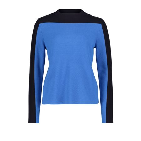 Betty & Co Trendy Knit Jumper Blue  - Click to view a larger image