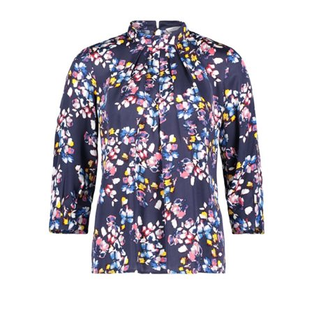 Betty & Co Floral Blouse Navy  - Click to view a larger image