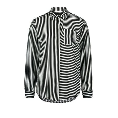 Betty & Co Striped Blouse Black  - Click to view a larger image