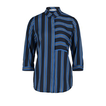 Betty & Co Striped Blouse Blue  - Click to view a larger image