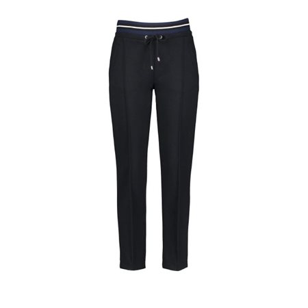 Gerry Weber Trousers With Striped Waistband Black  - Click to view a larger image
