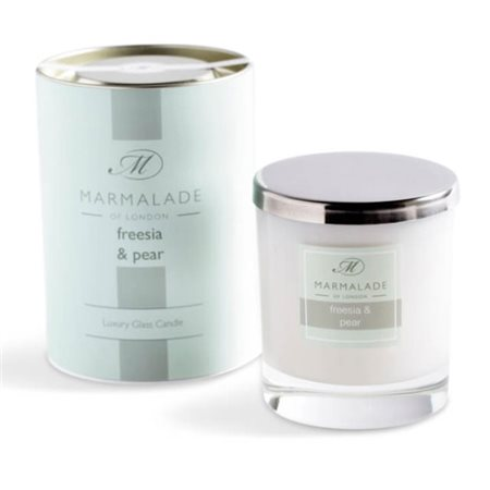 Marmalade Of London Freesia & Pear Large Glass Candle  - Click to view a larger image