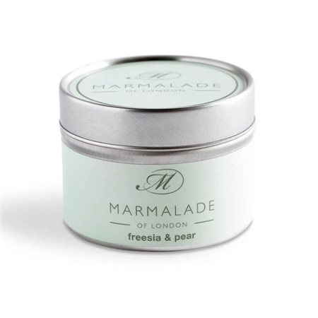 Marmalade Of London Freesia & Pear Small Tin Candle  - Click to view a larger image