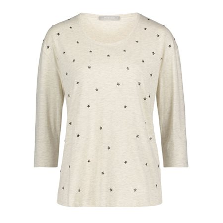 Betty & Co Star Print Top Cream  - Click to view a larger image