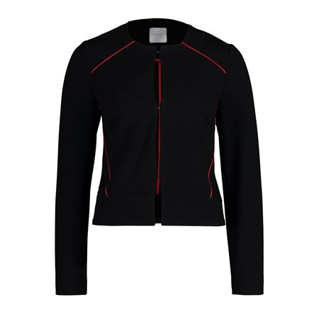 Betty & Co Detailed Jacket Black  - Click to view a larger image
