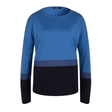 Olsen Colourblock Jumper Blue  - Click to view a larger image