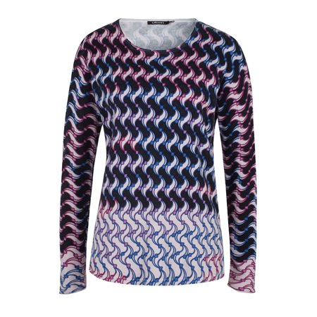 Olsen Patterned Jumper White  - Click to view a larger image