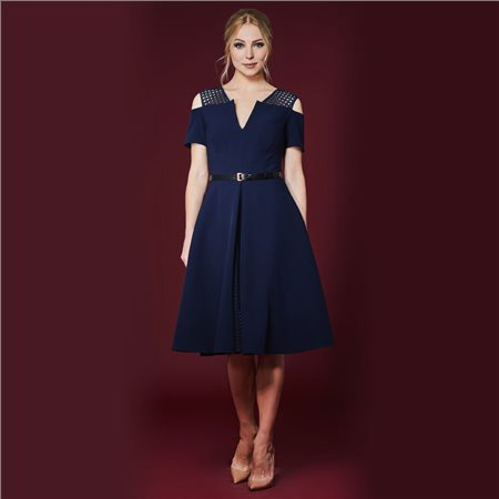 Mellaris Iviron Dress Navy  - Click to view a larger image