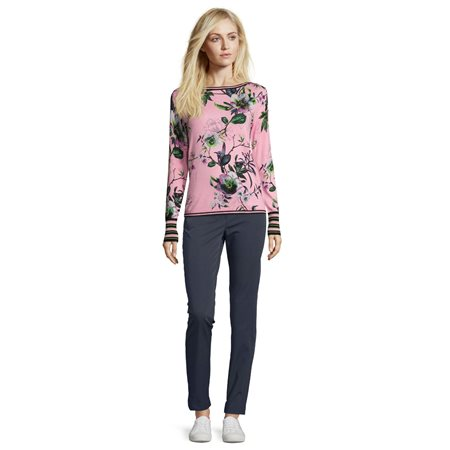 Betty Barclay floral print jumper pink  - Click to view a larger image