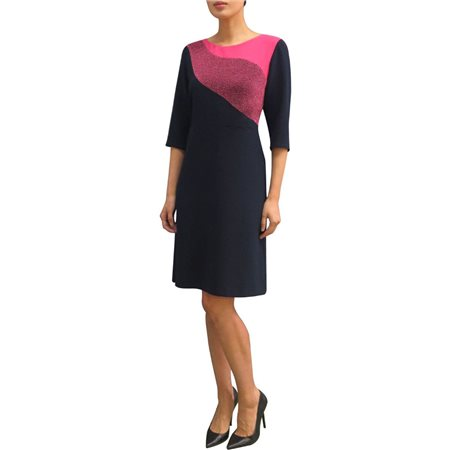 Fee G Sparkle Dress Navy And Pink  - Click to view a larger image