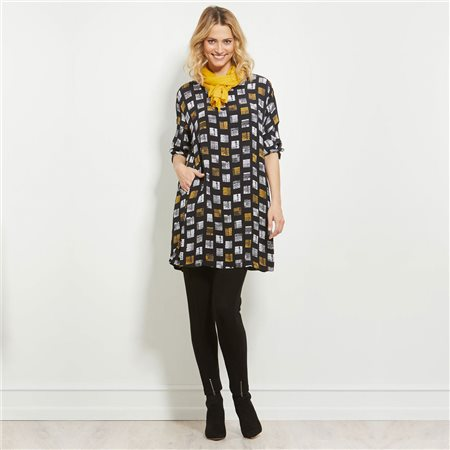 Masai Tunic Black And Yellow  - Click to view a larger image