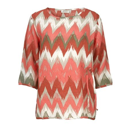 Masai Graphic Print Top Pink  - Click to view a larger image
