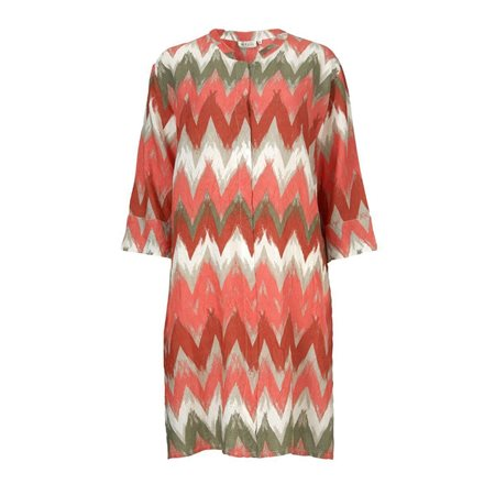 Masai Graphic Pint Tunic Pink  - Click to view a larger image