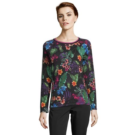 Betty Barclay Floral Print Jumper Black  - Click to view a larger image