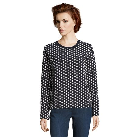 Betty & Co Polka Dot Patterned Jumper  - Click to view a larger image