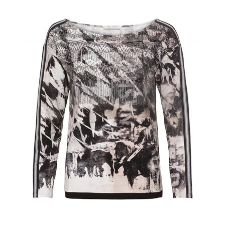 Monari Abstract Cowgirl Print Top  - Click to view a larger image