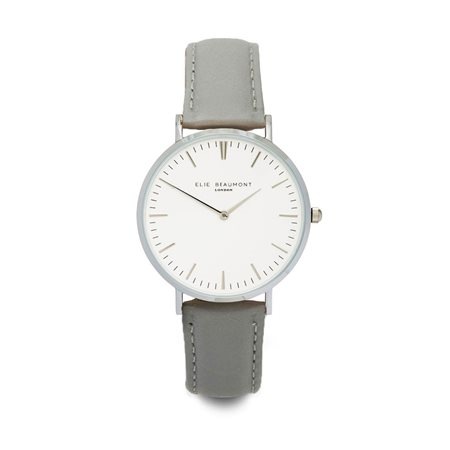 Elie Beaumont Oxford Large Face Grey Strap  - Click to view a larger image