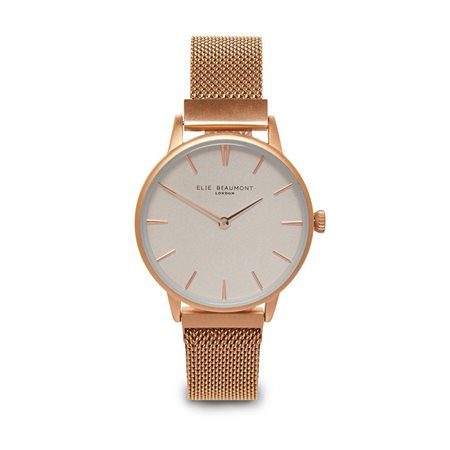 Elie Beaumont Holborn Large Face Magnetic Strap Rose Gold  - Click to view a larger image