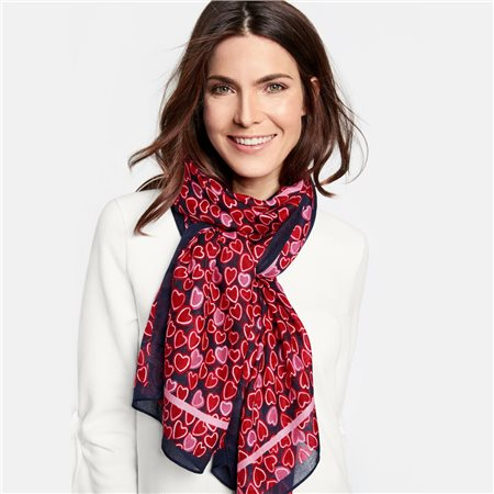Gerry Weber Fine Heart Print Scarf  - Click to view a larger image