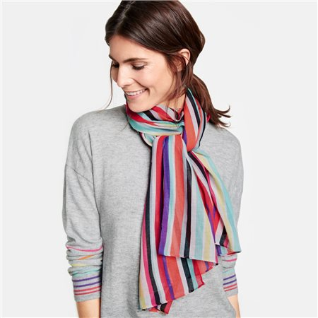 Gerry Weber Colourful Stripe Scarf  - Click to view a larger image