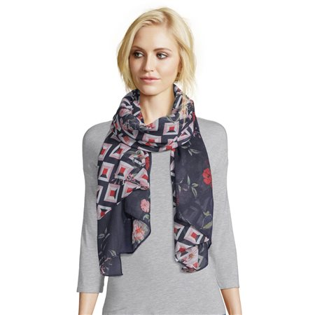 Betty & Co Floral Print Scarf  - Click to view a larger image
