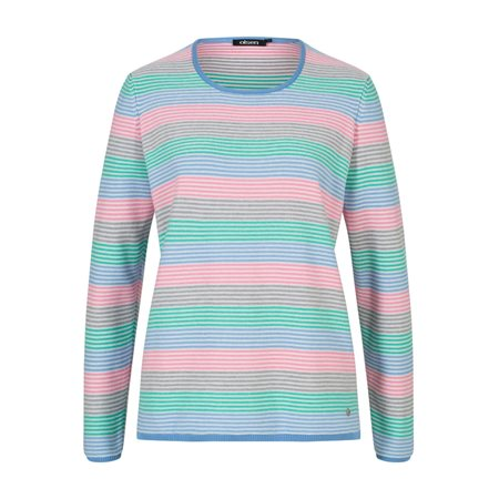 Olsen Colourful Striped Jumper  - Click to view a larger image