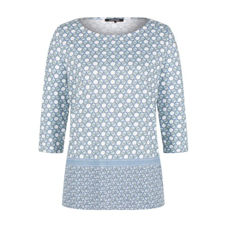 Olsen Geometric Print Top  - Click to view a larger image