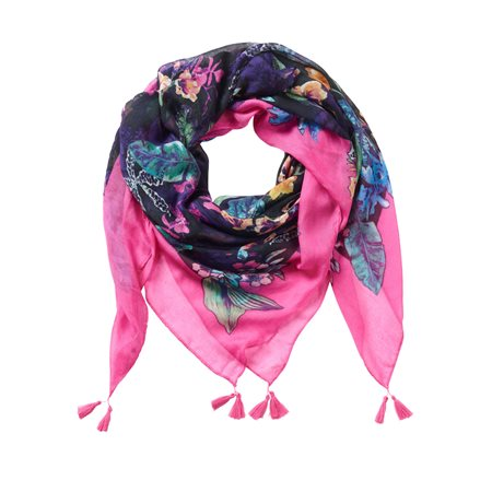 Betty Barclay Floral Print Scarf  - Click to view a larger image