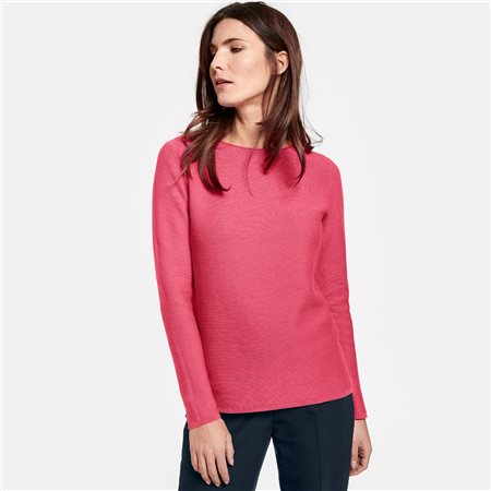 Gerry Weber Cotton Jumper Raspberry  - Click to view a larger image