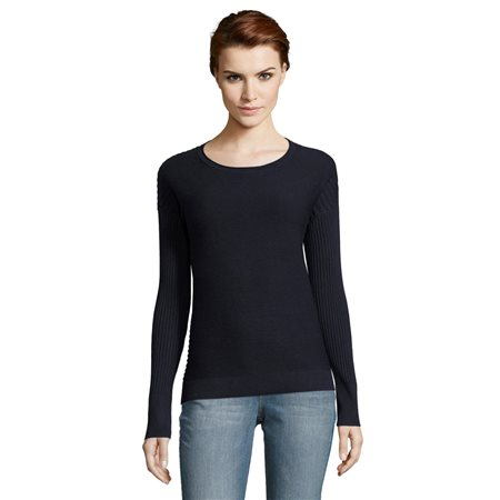 Betty & Co Sunburst Ribbed Jumper Navy  - Click to view a larger image