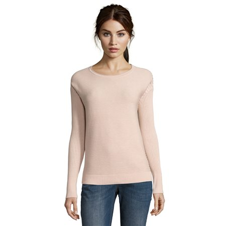 Betty & Co Sunburst Ribbed Jumper Pink  - Click to view a larger image