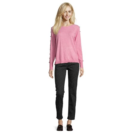 Betty Barclay Fine Knit Beaded Jumper Pink  - Click to view a larger image