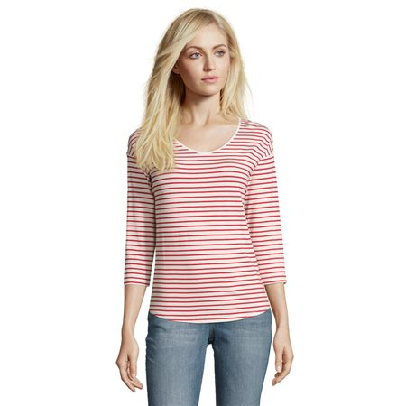 Betty & Co Striped Top Red  - Click to view a larger image