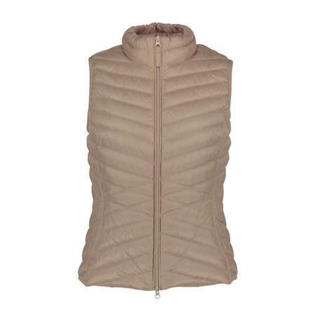Betty Barclay Lightly Padded Down Gilet Beige  - Click to view a larger image
