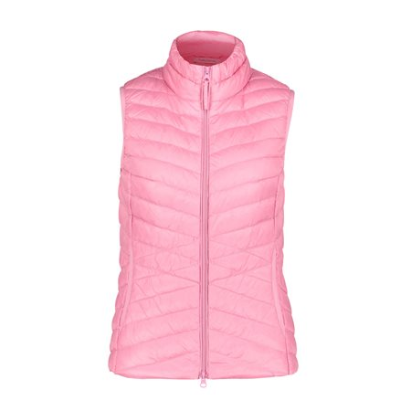 Betty Barclay Lightly Padded Down Gilet Pink  - Click to view a larger image