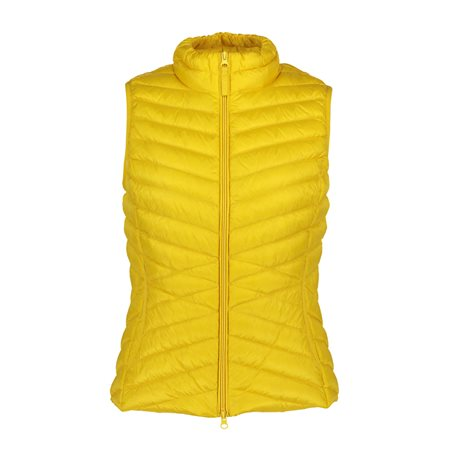 Betty Barclay Lightly Padded Down Gilet Yellow  - Click to view a larger image