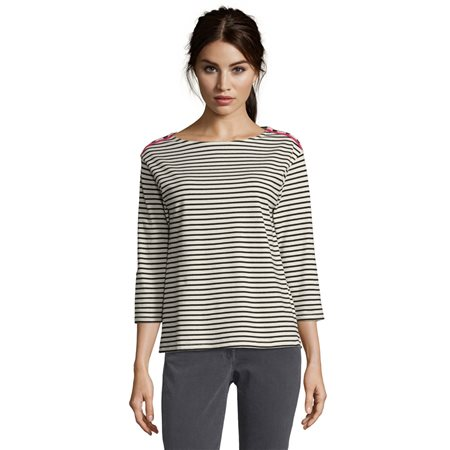 Betty Barclay Striped Top Black  - Click to view a larger image