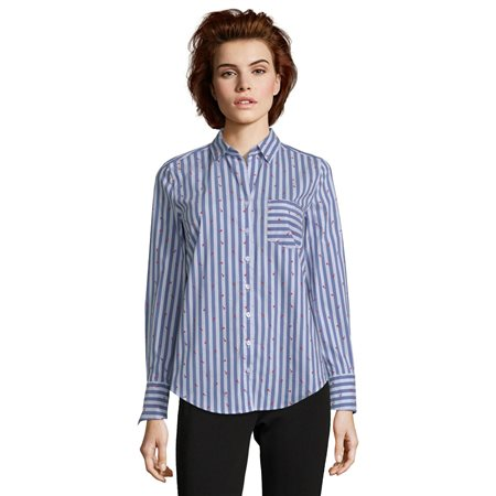 Betty Barclay Striped Shirt Blue  - Click to view a larger image