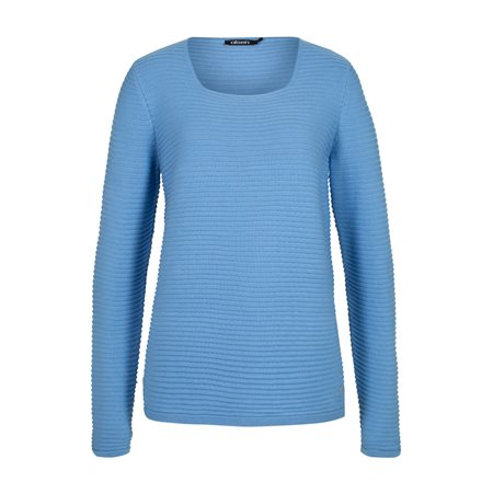 Olsen Ribbed Jumper Blue  - Click to view a larger image